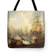 Unknown Title Sea Battle Tote Bag