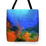 The Reef In Watercolor Abstract Tote Bag