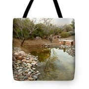 The Reflection By The Bench Tote Bag