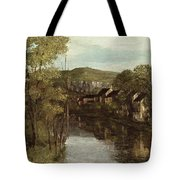 The Reflection Of Ornans Tote Bag by Gustave Courbet