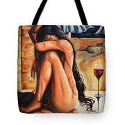 The Reflection Of The Long Hair Muse II Tote Bag