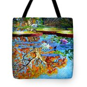 The Reflections Of Fall Tote Bag