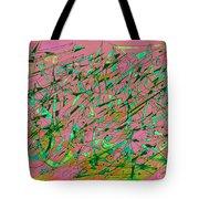 The Regatta In Pink Seas Tote Bag