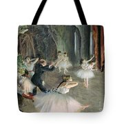 The Rehearsal Of The Ballet On Stage Tote Bag