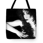 The Reluctant Reveal - Self Portrait Tote Bag