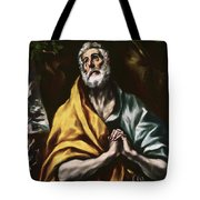 The Repentant Saint Peter Tote Bag