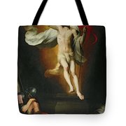 The Resurrection Of Christ Tote Bag by Bartolome Esteban Murillo