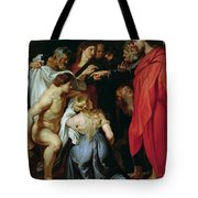 The Resurrection Of Lazarus Tote Bag by Rubens