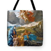 The Return Of The Holy Family From Egypt Tote Bag
