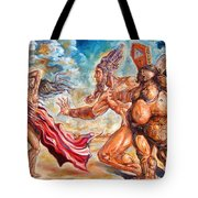 The Return Of The Original Consciousness And The Temptation Of The Fallen Tote Bag