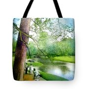 The Return Of The Tiger 03 - Walking On Water Tote Bag