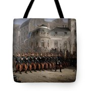 The Return Of The Troops To Paris From The Crimea Tote Bag by Emmanuel Masse