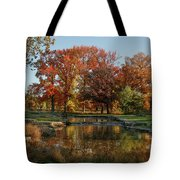 The Rich Autumn Colors In Forest Park. Tote Bag