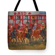 The Ringing Red Gates Tote Bag