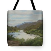 The Rio Grande Between Taos And Santa Fe Tote Bag
