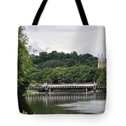 The River And Bridges At Burton On Trent Tote Bag