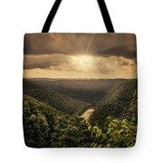 The River Below Tote Bag
