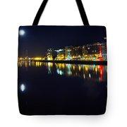 The River Liffey Night Romance Tote Bag