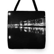 The River Liffey Night Romance Bw Tote Bag