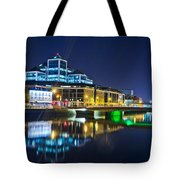 The River Liffey Reflections 4 Tote Bag