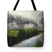 Grayscale The River Tote Bag