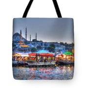 The Riverboats Of Istanbul Tote Bag
