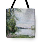 The Riverside Road From Veneux  Tote Bag