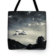 The Road And The Clouds Tote Bag