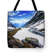 The Road And The Stream Tote Bag