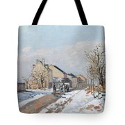 The Road From Gisors To Pontoise Tote Bag by Camille Pissarro