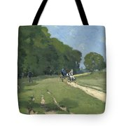 The Road Near The Park Of Courances Tote Bag