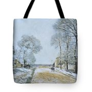 The Road, Snow Effect Tote Bag