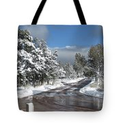 The Road Through Winter Tote Bag