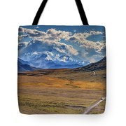 The Road To Denali Tote Bag