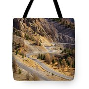 The Road To Izoard Pass - 2 - French Alps Tote Bag