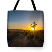 The Road To Joshua Tree At Sunset Tote Bag