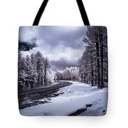 The Road To Snow Tote Bag