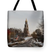 The Road To The Temple In The Early Spring. Tote Bag