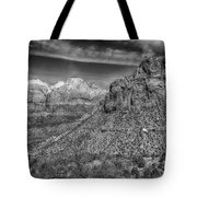 The Road To The Tunnel Bw Tote Bag