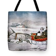 The Road-winter, 1853 Tote Bag