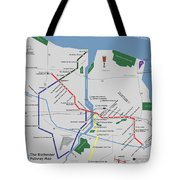 The Rochester Pubway Map Tote Bag