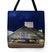 The Rock And Roll Hall Of Fame At Dusk Tote Bag
