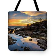 The Rock Bonsai During Sunset  Tote Bag