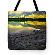 The Rockies Reflected At Lake Annettee Tote Bag