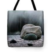 The Rocks At The End Of Hastie Road Tote Bag