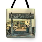 The Rod And Reel Pier Vintage   Tote Bag