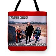 The Roller Blade Seven Tote Bag by The Scott Shaw Poster Gallery