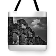 The Roman Aqueduct At Aspendos, Turkey.    Black And White Tote Bag