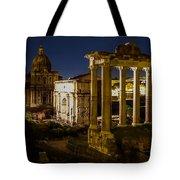 The Roman Forum At Night Tote Bag