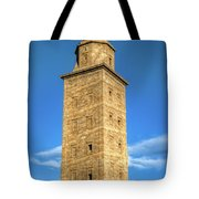 The Roman Lighthouse Known As Tower Of Hercules Tote Bag